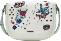 "Desigual ""Bols Denim Flowers Varsovia"" Damentasche blanco"