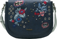 "Desigual ""Bols Denim Flowers Varsovia"" Damentasche navy"