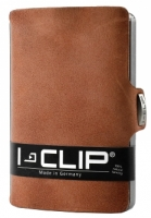 "I-CLIP ""Soft Touch"" echt Rindleder metallic grey oak"