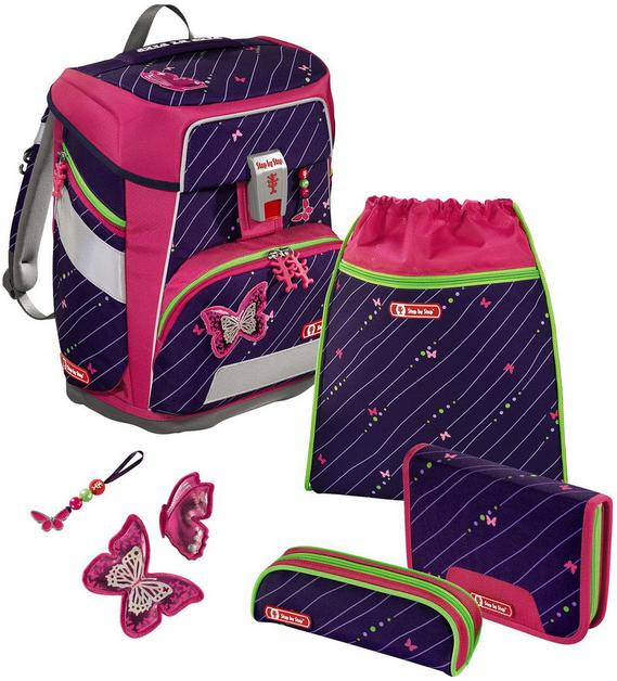 Step by Step 'Shiny Butterfly' Space Schulrucksack-Set 5tlg.