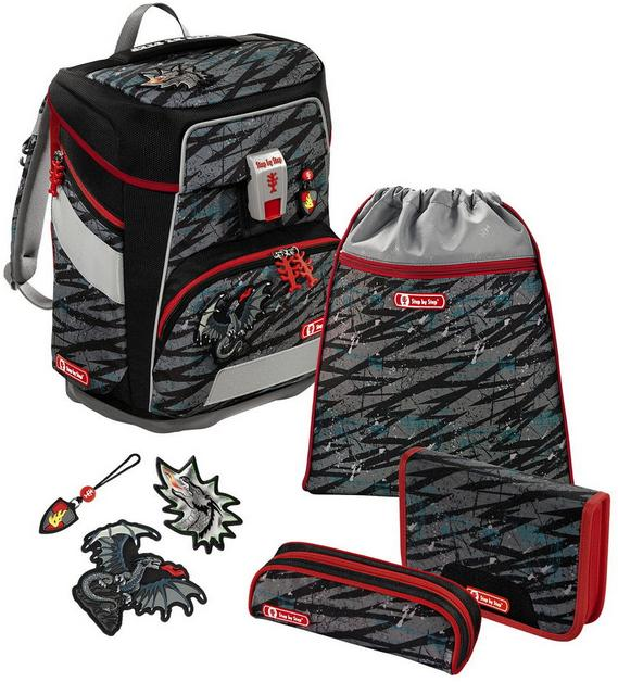 Step by Step 'Fire Dragon' Space Schulrucksack-Set 5tlg.