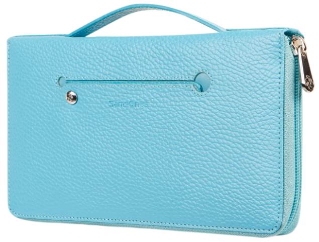 Samsonite 'Lady Window' Dokumententasche echt Rindleder horizonblue