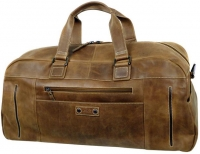 LandLeder 'Eco Friendly' Weekender naturbelassenes, gewachstes Vollrindleder ECO-natural-brown