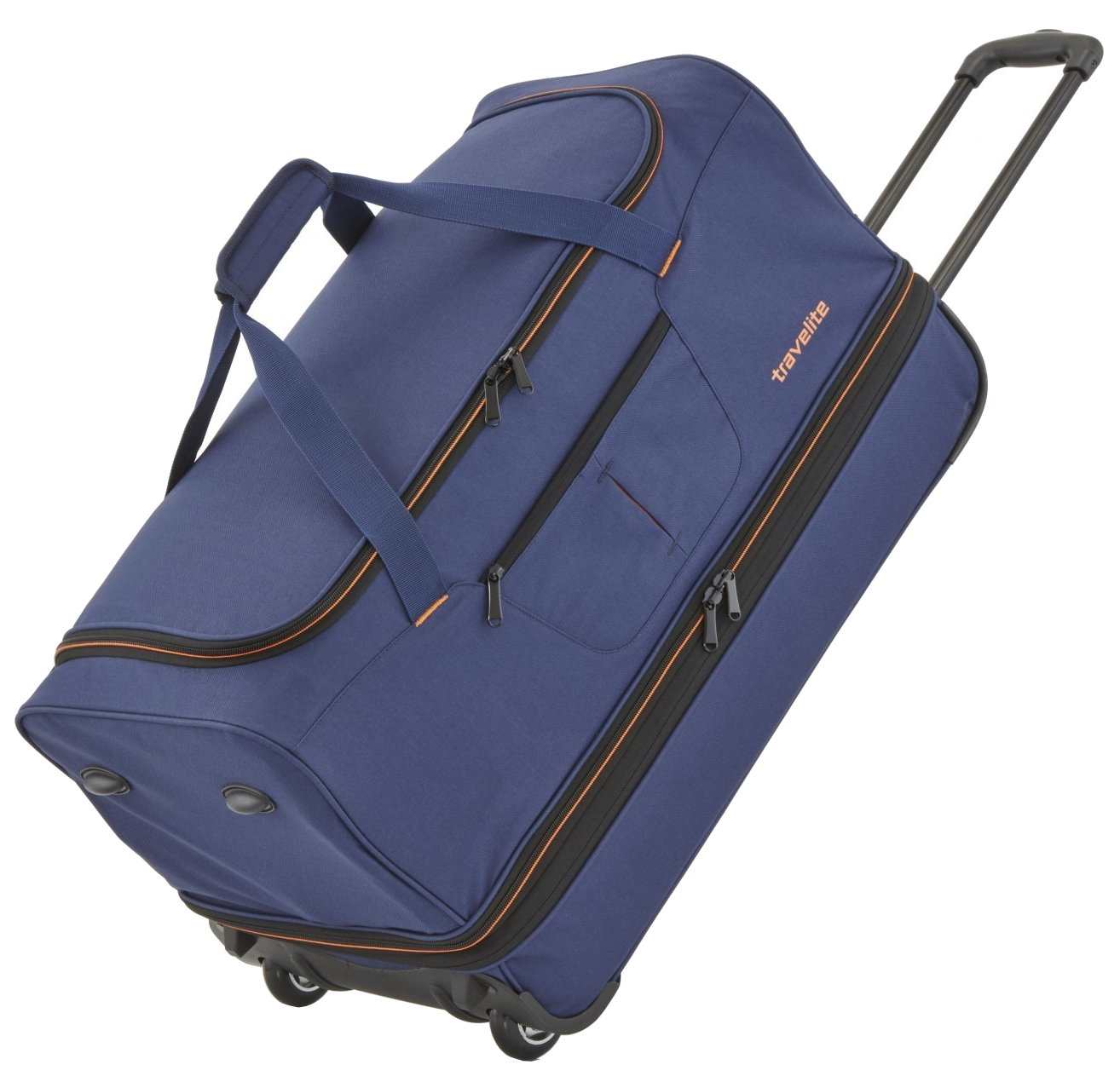 Travelite 'Basics' Trolley RT 55cm 2,3kg 51/64l marine/orange