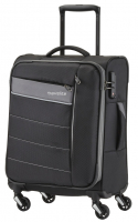 Travelite 'Kite' 4-Rad Bordtrolley S aufsteckbar 54cm 1900 36l schwarz