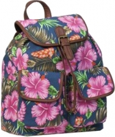 "New-Rebels ""Sunshine"" Rucksack blue pink Flower"