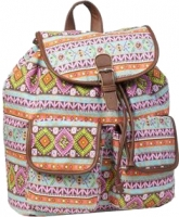 "New-Rebels Rucksack ""Sunshine range"" canvas pink blue brown"