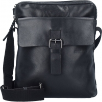 "Strellson ""Scott"" ShoulderBag SVZ echt Leder black"
