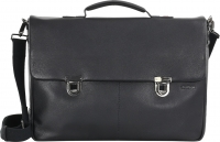 "Strellson ""Garret"" BriefBag LHF echt Leder black"