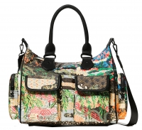 "Desigual ""Bols Explorer London medium"" Damentasche musgo bunt"