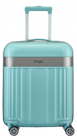 "Titan ""Spotlight Flash"" 4-Rad Trolley 55cm ABS mit PC-Film 2,5kg 37l mint"
