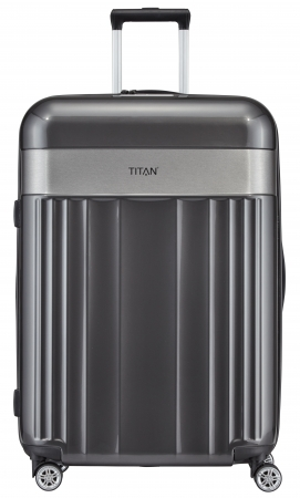 "Titan ""Spotlight Flash"" 4-Rad Trolley 76cm ABS mit PC-Film 4,3kg 102l anthracite"