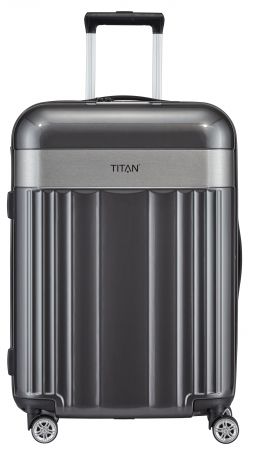 "Titan ""Spotlight Flash"" 4-Rad Trolley 68cm ABS mit PC-Film 3,5kg 69l anthracite"