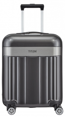 "Titan ""Spotlight Flash"" 4-Rad Trolley ABS mit PC-Film 55cm 2,5kg 37l anthracite"