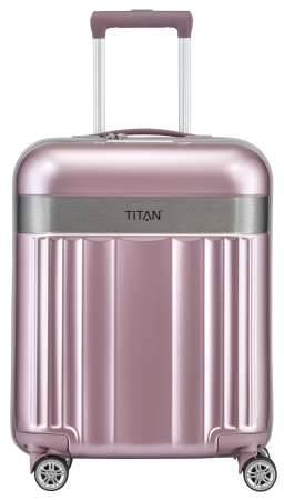 "Titan ""Spotlight Flash"" 4-Rad Trolley 55cm ABS mit PC-Film 2,5Kg 37L wild rose"