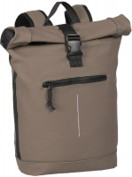 "New-Rebels ""Mart"" Roll-up Rucksack mit Laptopfach taupe"