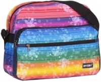 "New-Rebels ""Allstar Range"" RV-Schultertasche querformat groß Rainbow"