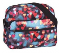 "New-Rebels ""Allstar Range"" RV-Schultertasche querformat groß Hearts2"
