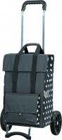 "Andersen ""Gerry"" Campus Shopper Tasche mit Tragegriff 49l 40kg Tragkraft MADE IN GERMANY grau punkte"