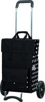 "Andersen ""Gerry"" Campus Shopper Tasche mit Tragegriff 49l 40kg Tragkraft MADE IN GERMANY schwarz punkte"