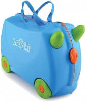 "Trunki ""Terrance blue"" Ride-on suitcase Kindertrolley blau"