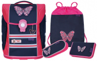 McNeill 'Butterfly' Schulrucksackset Ergo Light Primero Mc Light 4tlg.