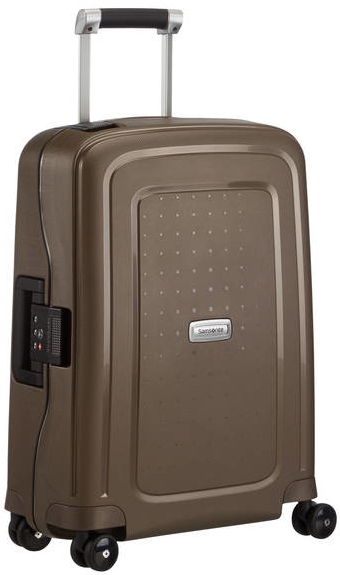 Samsonite 'SCure DLX' Spinner Bordtrolley 55cm 2,9kg 34l metallic bronze