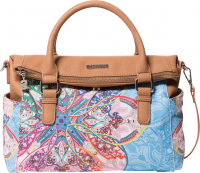 "Desigual ""Bols Mexican Cards Loverty"" Schultertasche azul agua"