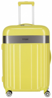 "Titan ""Spotlight Flash"" 4-Rad Trolley 68cm ABS mit PC-Film 3,5kg 69l lemon crush"
