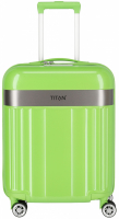 "Titan ""Spotlight Flash"" 4-Rad Trolley 55cm ABS mit PC-Film 2,5kg 37l flashy kiwi"