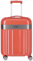"Titan ""Spotlight Flash"" 4-Rad Trolley 55cm ABS mit PC-Film 2,5kg 37l cape coral"
