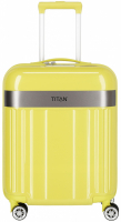 "Titan ""Spotlight Flash"" 4-Rad Trolley 55cm ABS mit PC-Film 2,5kg 37l lemon crush"