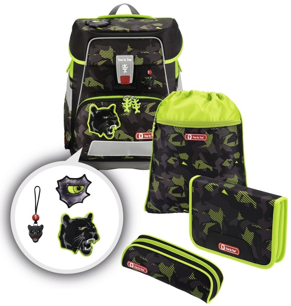 Step by Step 'Black Cat' e-Space Schulrucksack-Set 5tlg.
