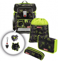 "Step by Step ""Black Cat"" e-Space Schulrucksack-Set 5tlg."