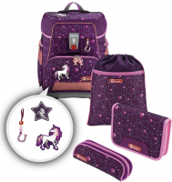 "Step by Step ""Dreamy Unicorn"" e-Space Schulrucksack-Set 5tlg."