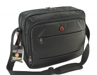 New Bags 'Business' Messenger aus Spinnstoff schwarz