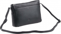 "Prato leather fashion ""Cambridge"" Damenttasche echt Rindleder black"