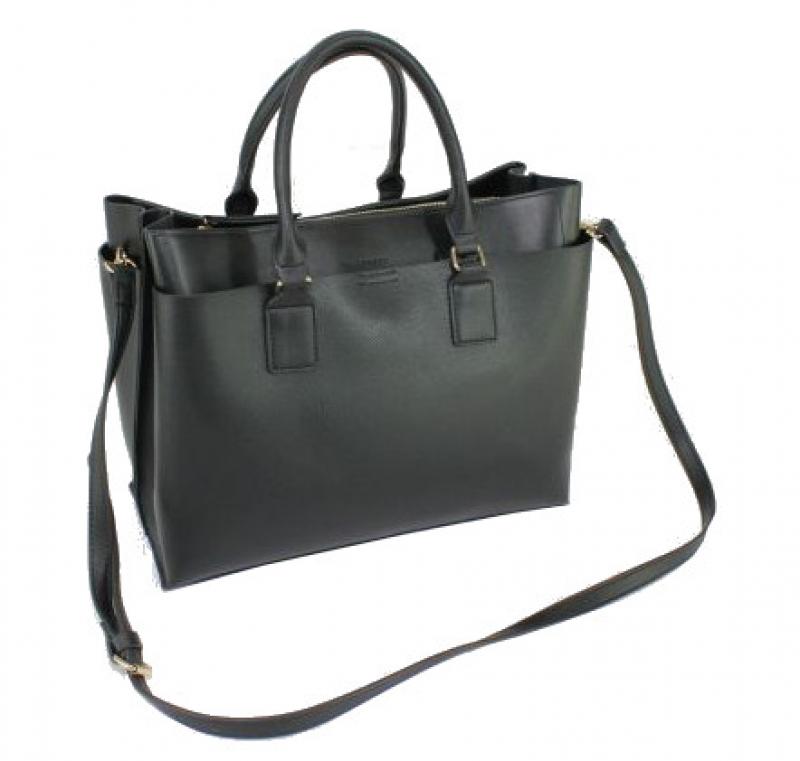Bellevory Damentasche mit Reißverschluß 2 kurze Henkel und 1