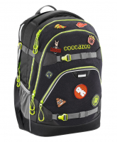"Coocazoo ""ScaleRale"" Schulrucksack 1200g 30l limited edition patchy black/green"