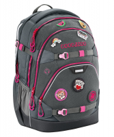 "Coocazoo ""ScaleRale"" Schulrucksack 1200g 30l limited edition patchy grey/pink"