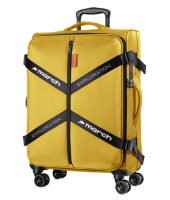 "March ""Exploration"" 4-Rad Trolley erweiterbar 65cm 3,1kg 69/79l golden honey"