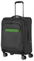 Travelite 'Madeira' 4-Rad Bordtrolley S 55cm 2,1kg 37l anthrazit/grün