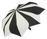 "Pierre Cardin ""Sunflower black & white"" Easymatic 3-section light auf/zu Automatic weiß-schwarz"