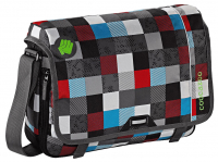 "Coocazoo ""HangDang"" Schultertasche 19l mit Laptopfach 15,4 checkmate blue red"