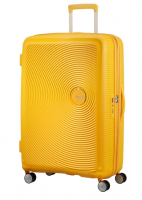 "American Tourister ""Soundbox"" Spinner 77cm 4,2kg 97/110l golden yellow"