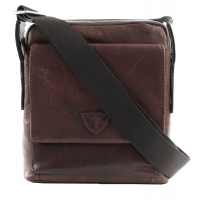 Joop Brenta 'Remus' ShoulderBag XSVZ echt Leder dark brown