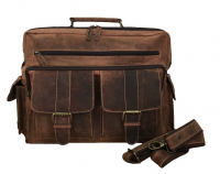 Hunter Collection Bayern Bag Aktentasche mit Laptopfach echt Rindleder braun