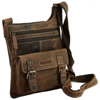Hunter Collection Bayern Bag Schultertasche echt Rindleder braun