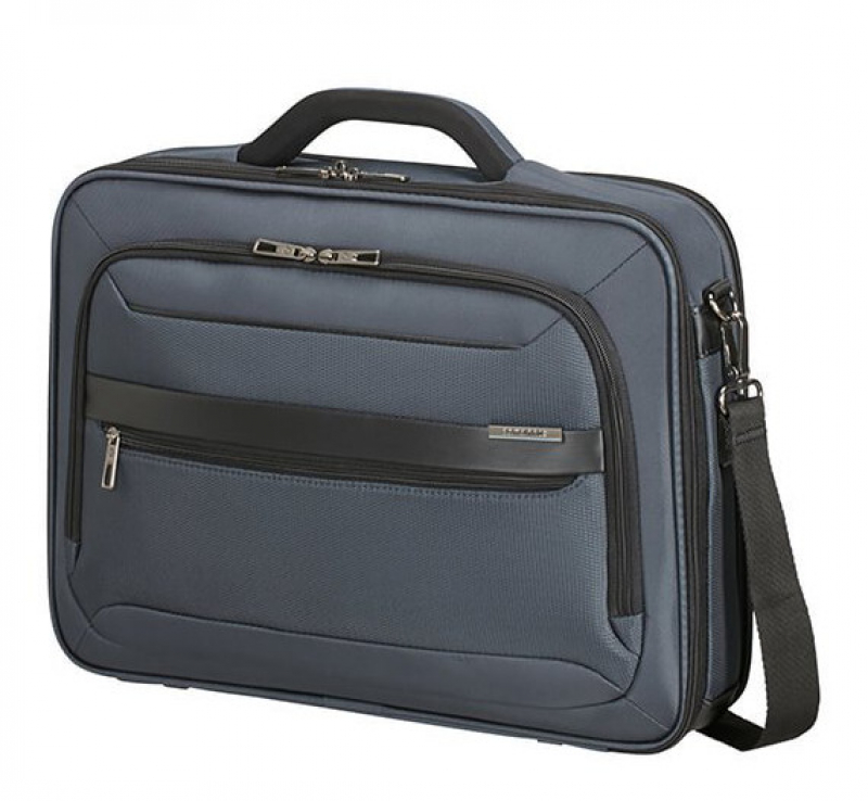 "Samsonite ""Vectura Evo"" Office Case bis 17,3 Zoll 18,5l  1,2kg blue"