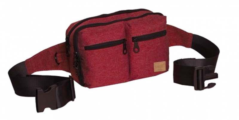 New-Rebels 'Heaven' Gürteltasche mit Doppel RV burgundy